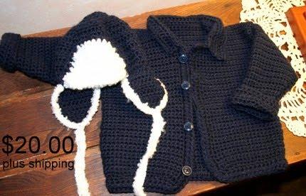 BABY BOY CROCHET SWEATER - CROCHET KNIT PATTERN SCARF