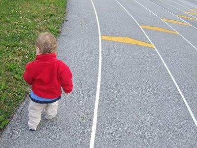 yarış parkuru küçük çocuk