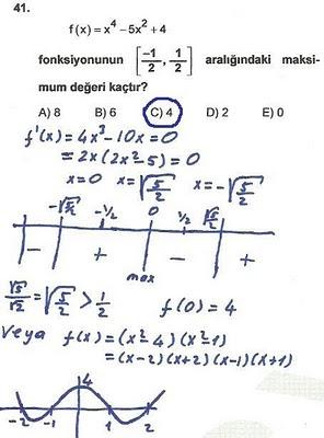 2010 lys matematik 41. soru ve çözümü