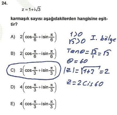 2010 lys matematik 24. soru ve çözümü