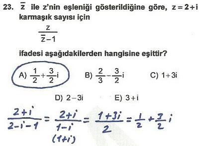 2010 lys matematik 23. soru ve çözümü