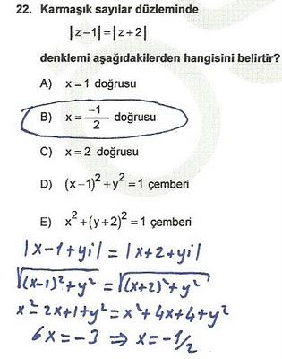 2010 lys matematik 22. soru ve çözümü