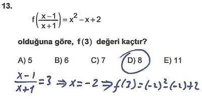 2010 lys matematik 13. soru ve çözümü