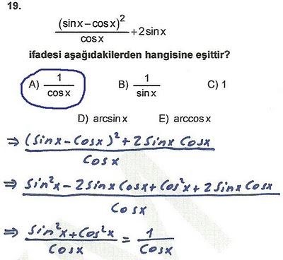 2010 lys matematik 19. soru ve çözümü