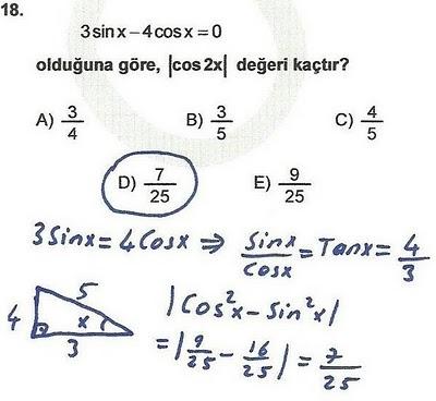 2010 lys matematik 18. soru ve çözümü