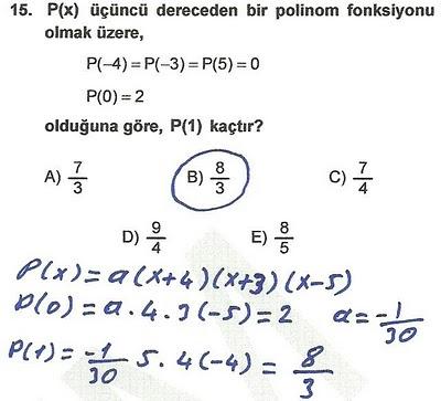 2010 lys matematik 15. soru ve çözümü