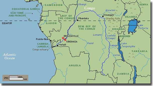 Jolie Blogs Congo River Map Africa