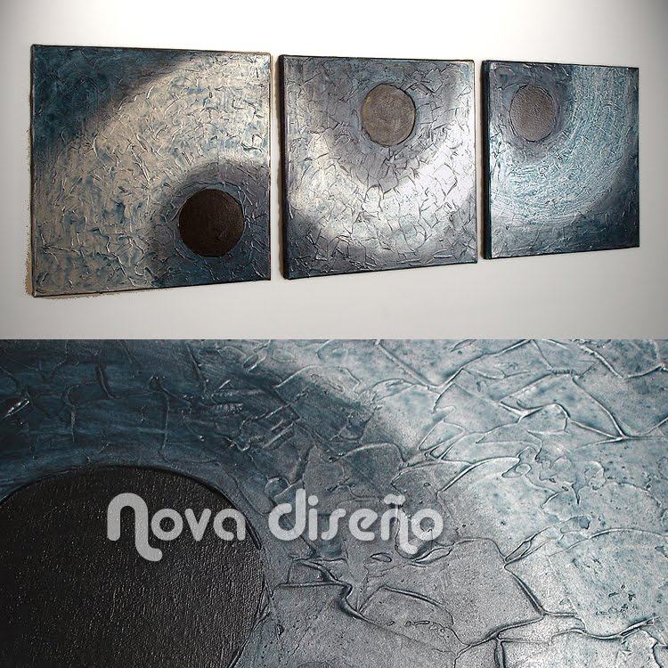 Nova Diseño ···: Tríptico Abstracto \