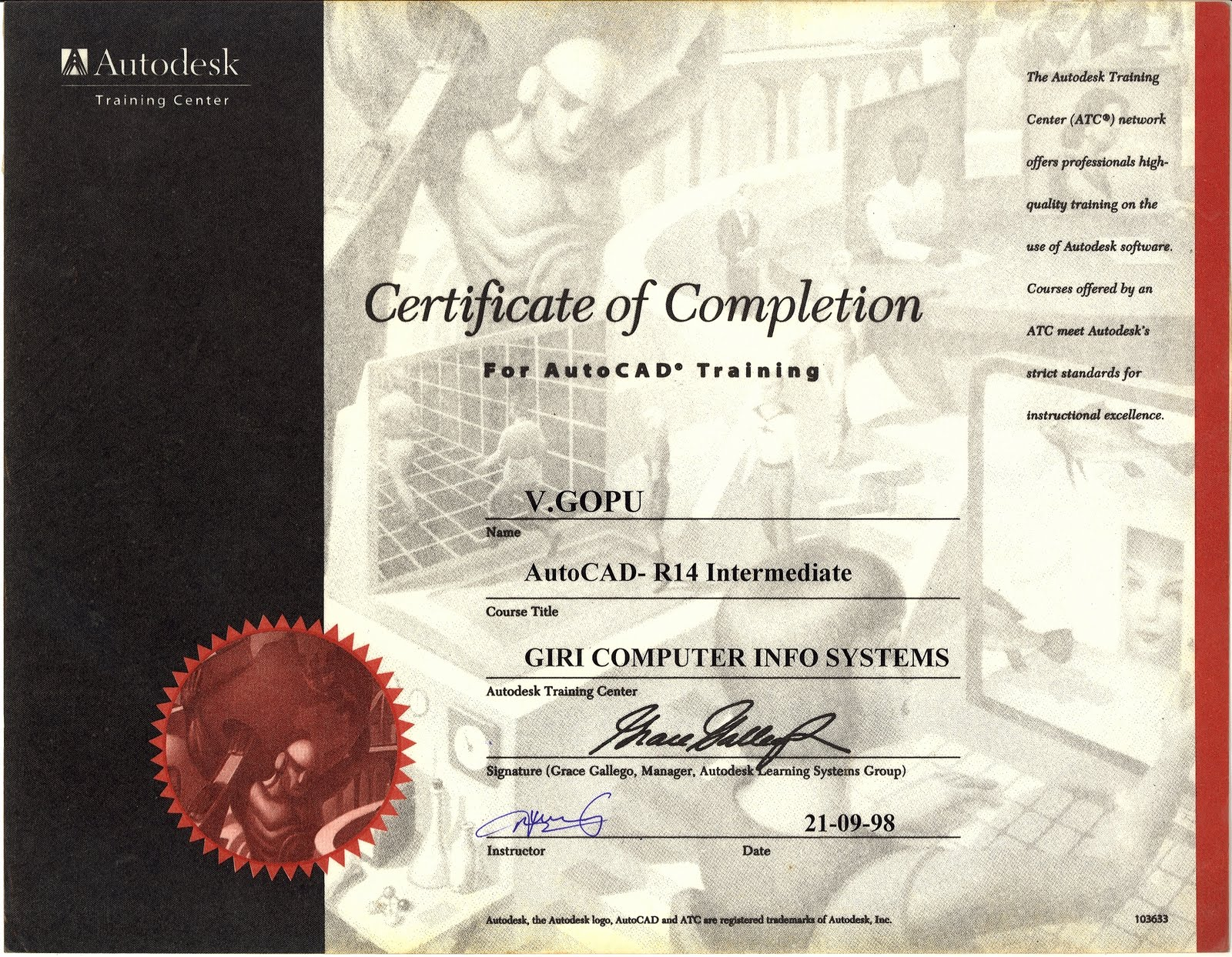 Gopuv auto cad certificate auto cad certificate 1betcityfo Image collections
