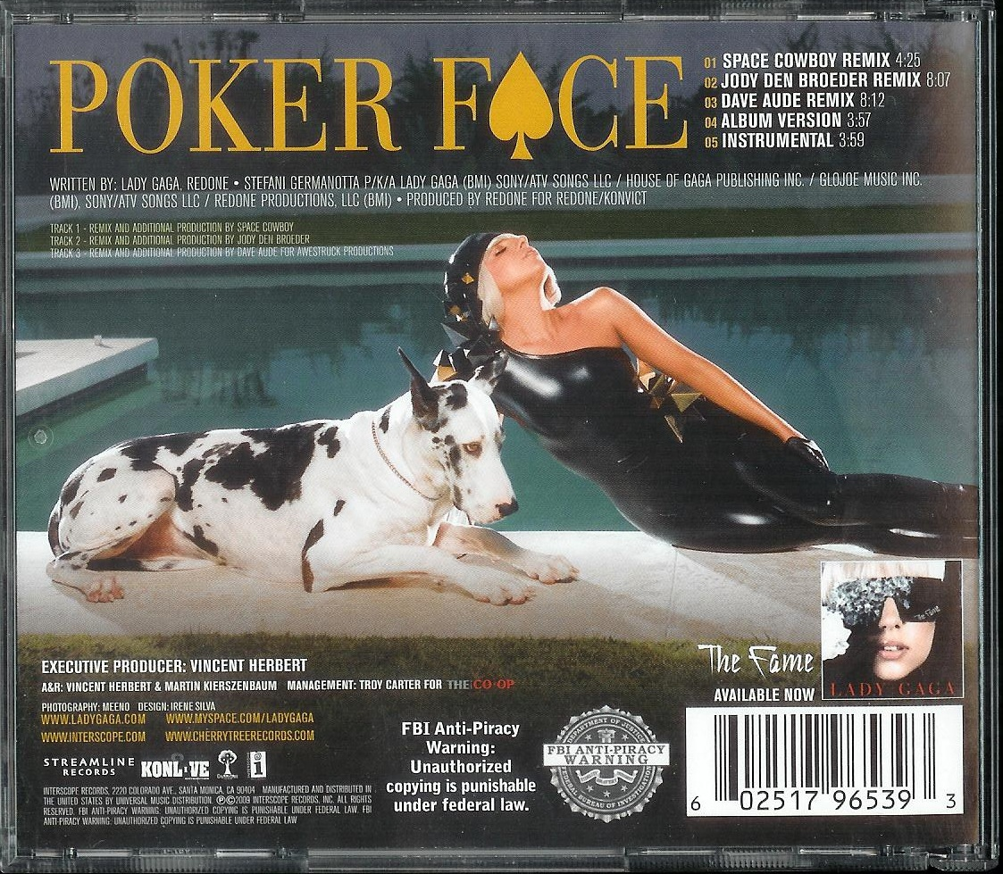 Poker face versions