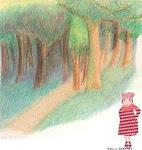 chaperon rouge en forêt