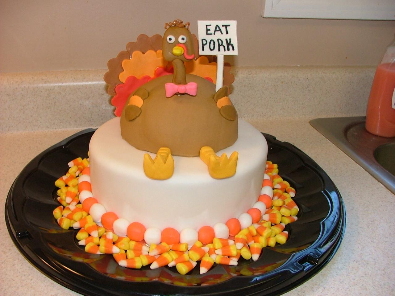 Sugar Fairy Treats & Sweets: Turkey Cake!