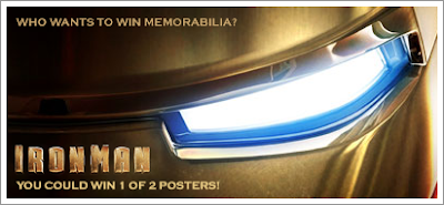 Enter to Win the IRON MAN poster - Who Wants to Win Memorabilia?