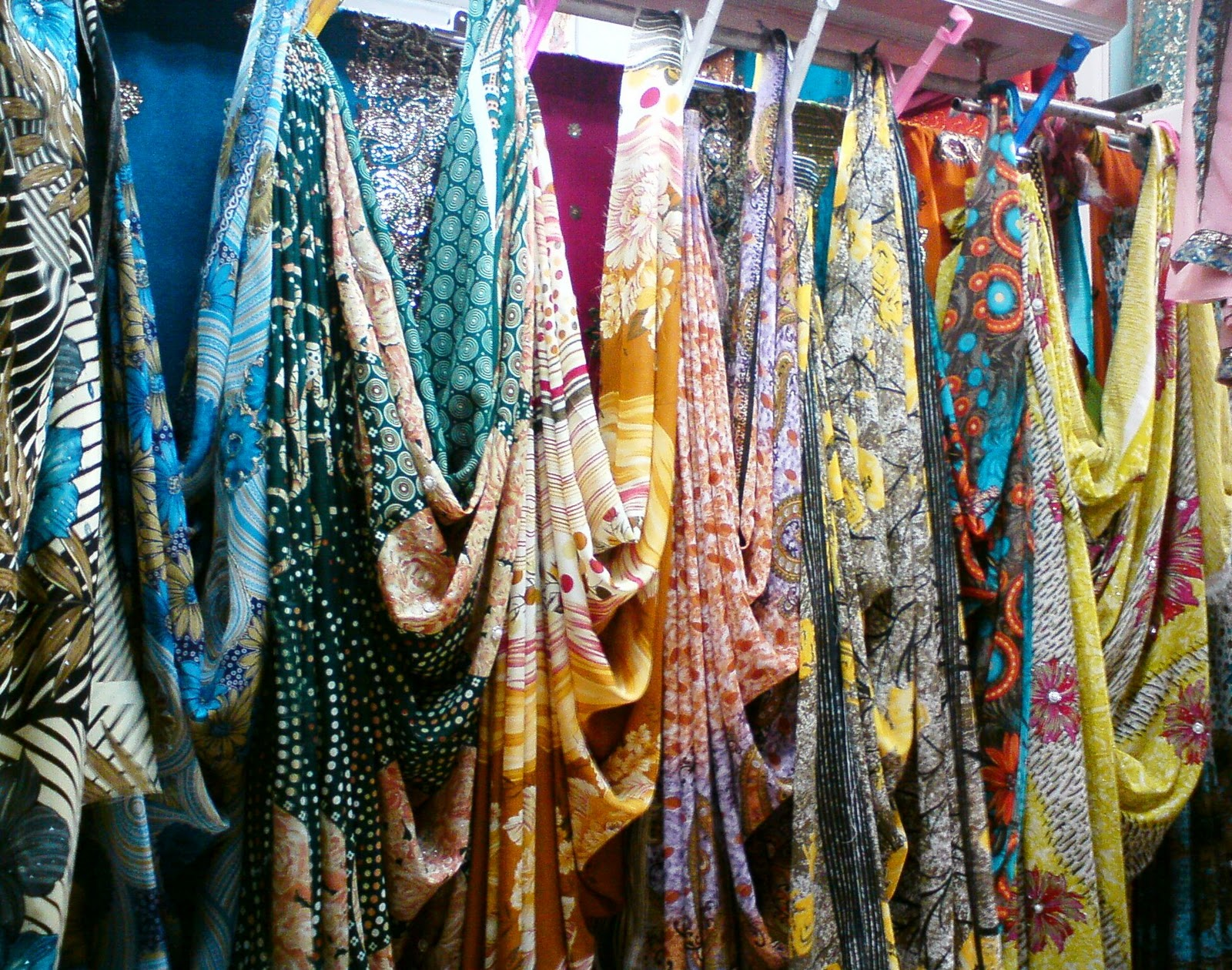 [ Colorful Sarees on display ]