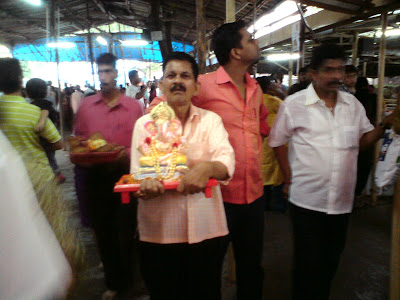 Ganesh idol being taken for visarjan, Mumbai