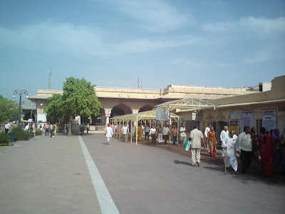 The entrance to the Govind Devji Temple, Jaipur