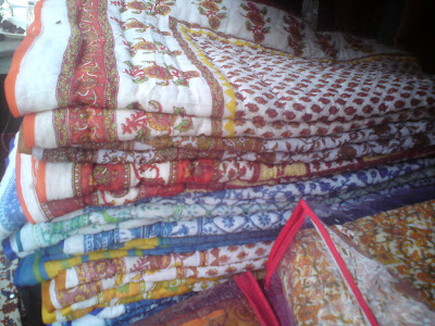 Lovely Quilts or Rajais in Jaipur markets