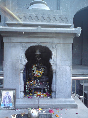 Lord Ganesha idol in the courtyard of the Kalaram temple - Nashik