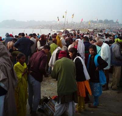 The Magh Mela or the mini Kumbh Mela at Prayag, Allahabad