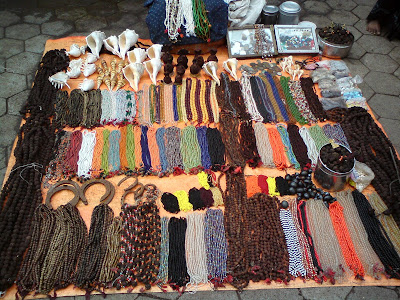 A  shop selling Rudraksh malas and beads in Trimbakeshwar
