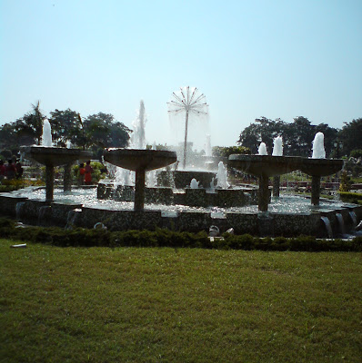 A fountain at the Patanjali Yogpeeth - Haridwar