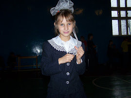 Olya... just after giving a mini-presentation in the orphanage...