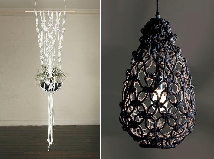 habit of art inspired by macrame. Black Bedroom Furniture Sets. Home Design Ideas