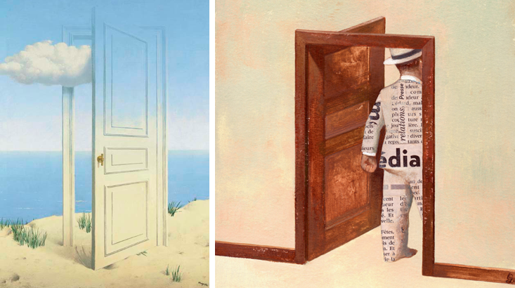 It\u0027s hard to believe that there is a 70-year span between the two artists ( Magritte dying the year before DuBois was born). These particular works of art ... & Habit of Art: Comparing art: Gérard Dubois and René Magritte