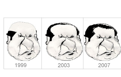 To move ahead,change your head first: Sharif's advice. A Cartoon on Nawaz Sharif .