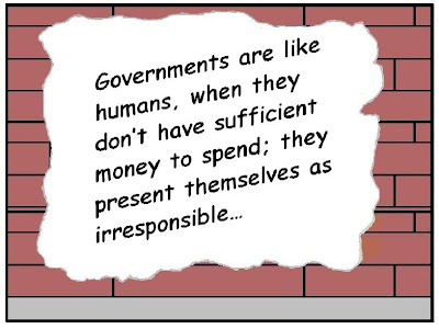 governments, irresponsible spending, insufficient funds, graffitti