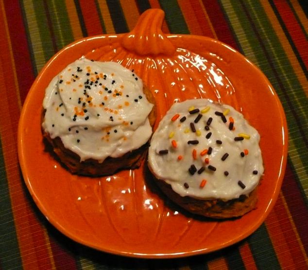 ... Adventures: Happy Halloween: Pumpkin Cookies with Cream Cheese Icing