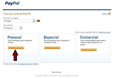 Registo PayPal 2 - PTCs em Prática