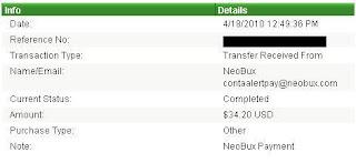Pagamento NeoBux