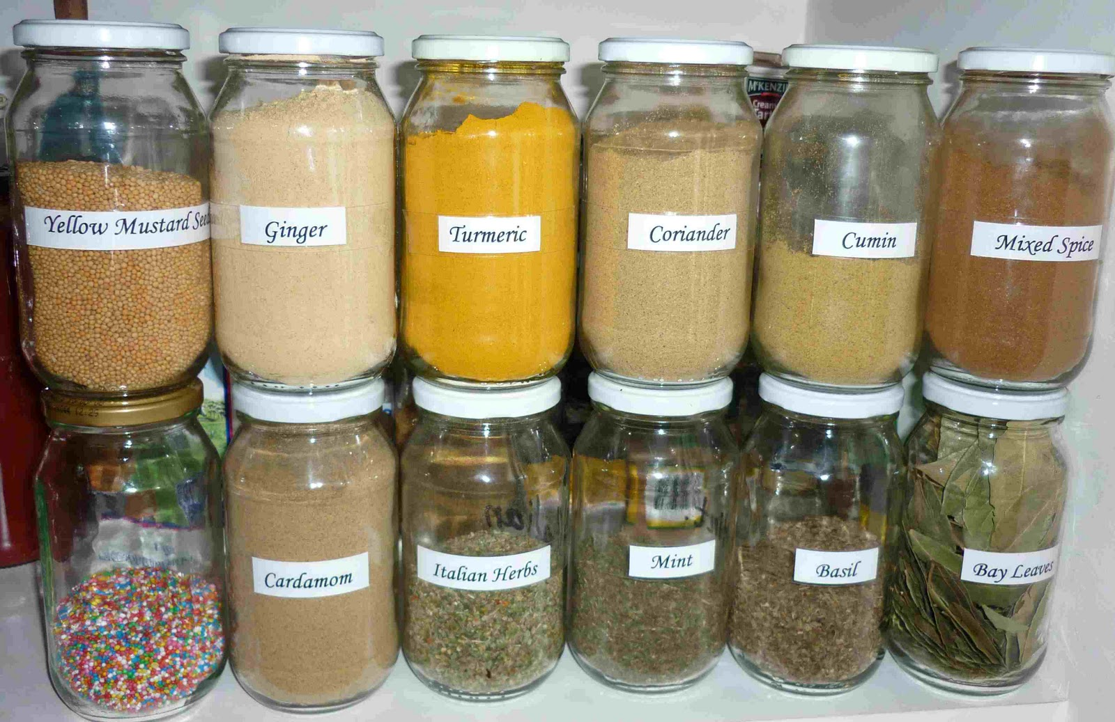 Simpleliving Glass Jars With My Herbs Spices