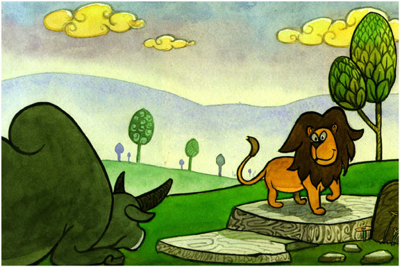 lion and rabbit story in english pdf