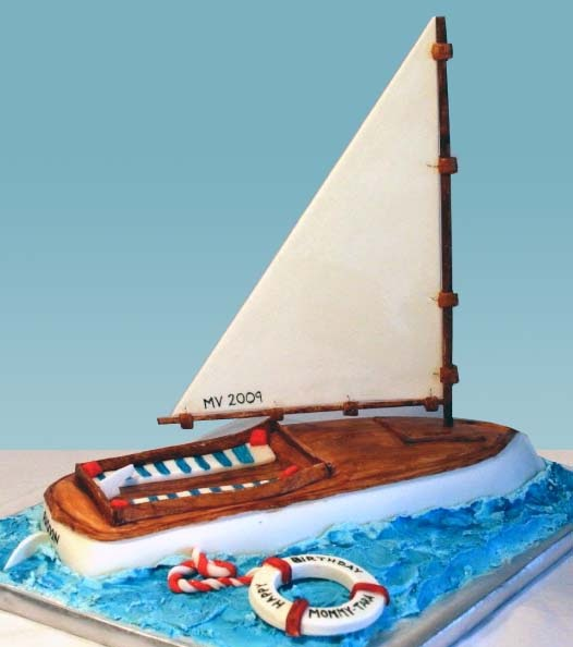 LAYER A Cake Shop Sail Boat Cake