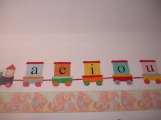 comboio das vogais As Vogais para crianças