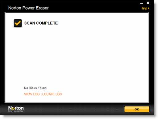 Norton Power Eraser error