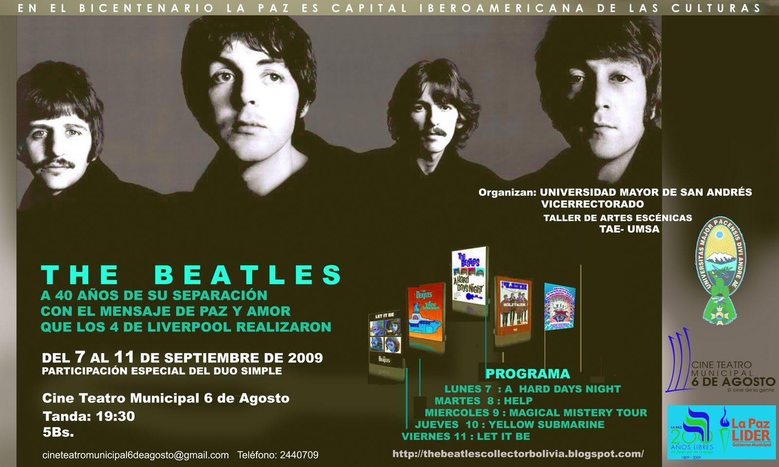 homenaje a los beatles en Bolivia no se lo pierdan