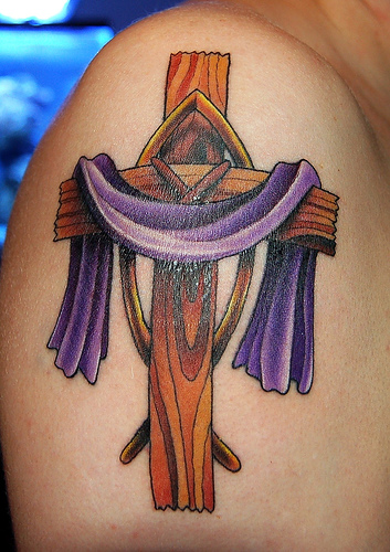 Tribal cross tattoos