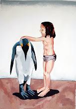 A menina e o pinguim