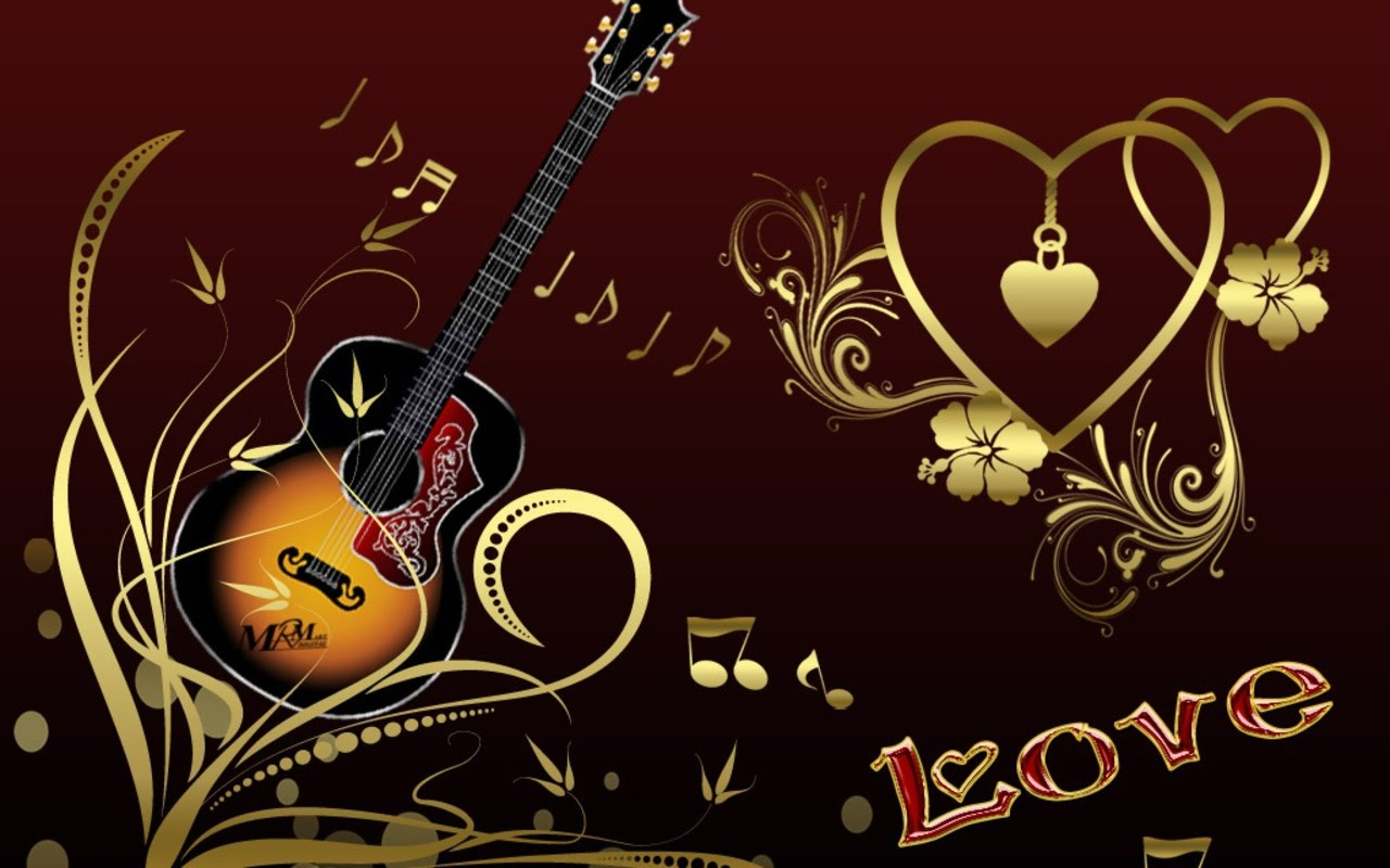 Love Hd Wallpaper Widescreen 3d : Wallpaper Provider: Guitar Wallpaper - Set 01