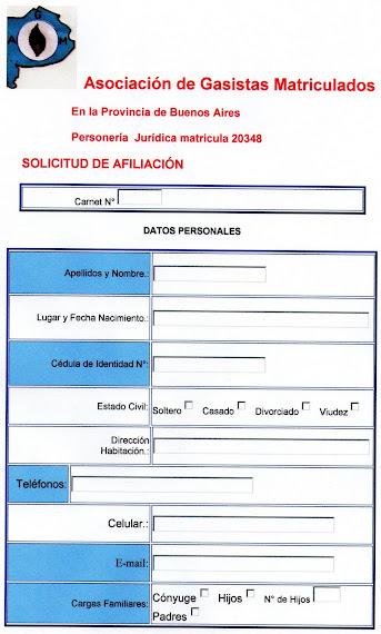 FICHA DE AFILIACION