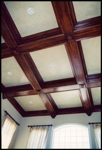 Coffered ceilings an american housewife for Decoration platre style francais