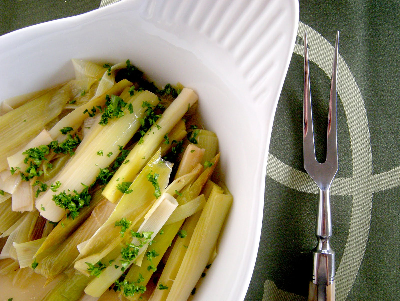 Braised Leeks Recipe — Dishmaps