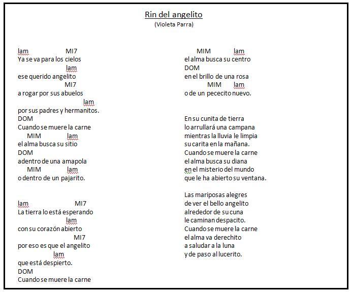 letra de lacancion angelito: