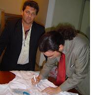 Piassa e o ministro da Cultura interino Alfredo Manevi.
