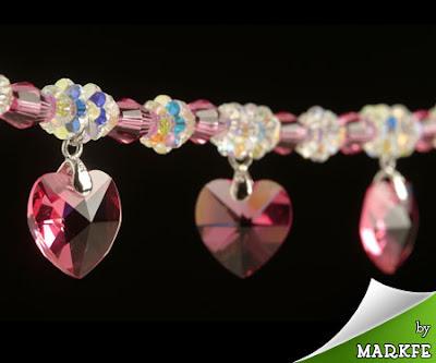Swarovski crystal dangling bracelet accessory