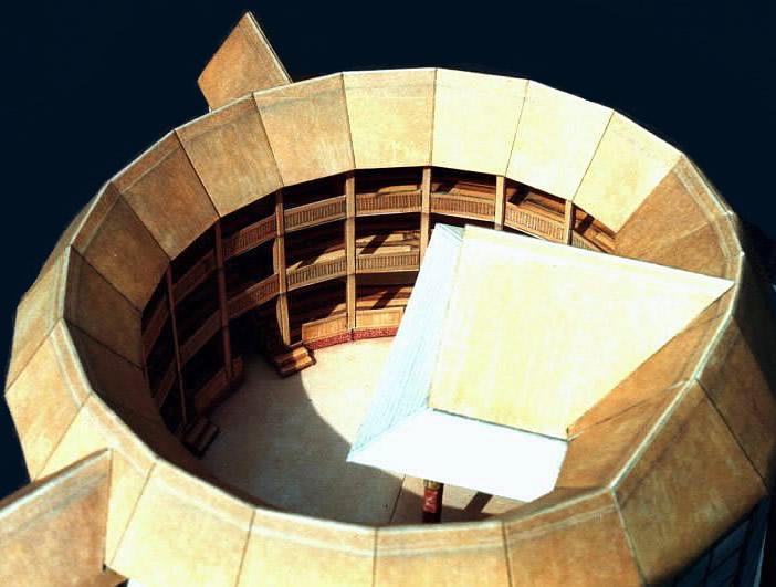Globe theatre model for Theatre model