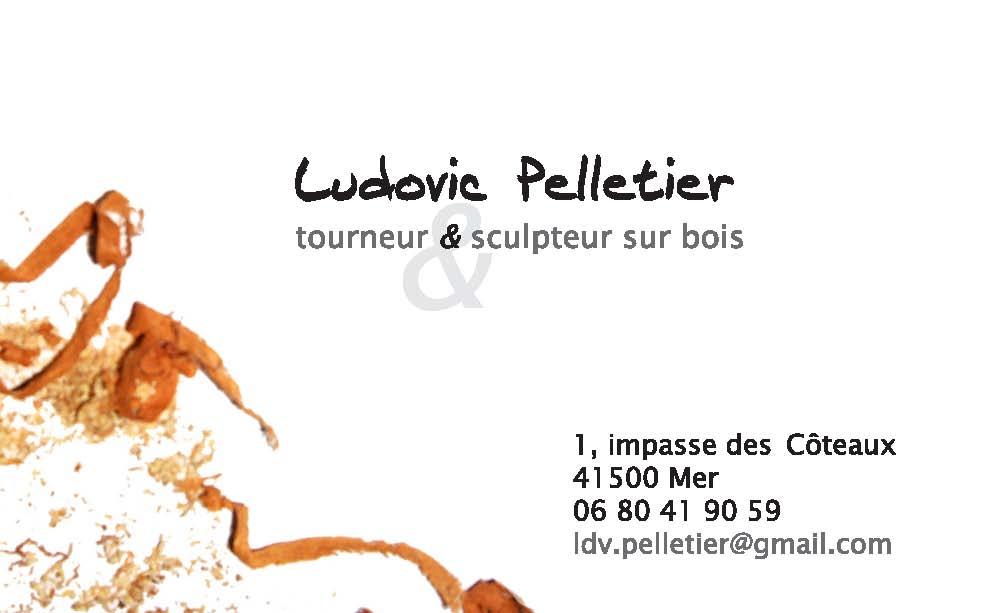 Communication Visuelle Pour Un Artiste Sculpteur Et Tourneur Sur Bois Ludovic Pelletier Ralisation De Carte Visite